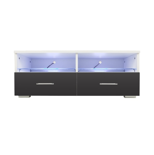 2017 Black Tv Cabinets With Drawers Inside Front Led Tv Stand Black Modern Led Living Room Furniture Tv (Photo 19 of 25)