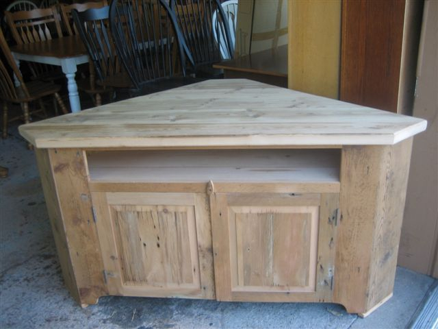 2017 Corner Tv Cabinets With Glass Doors In Barn Wood Corner Tv Stand (Image 2 of 25)