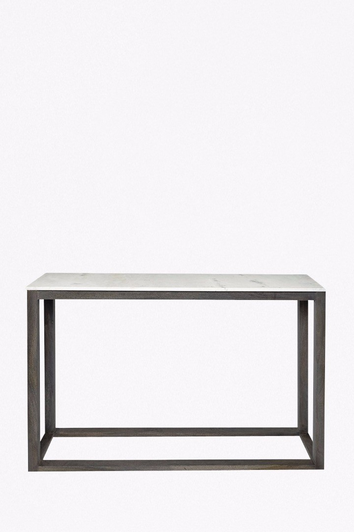 2017 Elke Marble Console Tables With Brass Base Pertaining To Marble Console Table Regarding Elke With Brass Base Reviews Crate (Image 2 of 25)