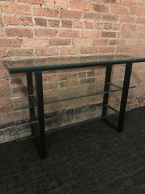2017 Kyra Console Tables With Regard To Metal And Glass Crate&barrel Kyra Sofa Table – $ (Image 1 of 25)