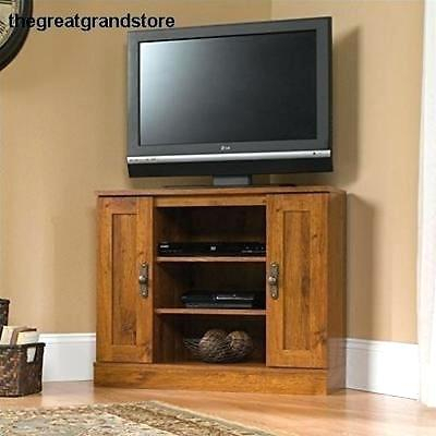 2017 Oak & Brass Stacking Media Console Tables Throughout Rustic Corner Media Cabinet Oak Brass Stacking Media Console Office (Image 2 of 25)