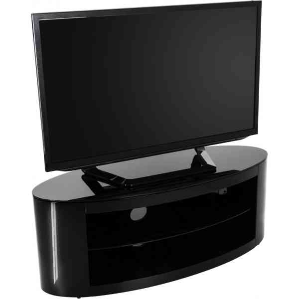 2017 Opod Tv Stand Black Within Techlink Bench Piano Black Corner Tv Stand With Glass Doors (Image 2 of 25)