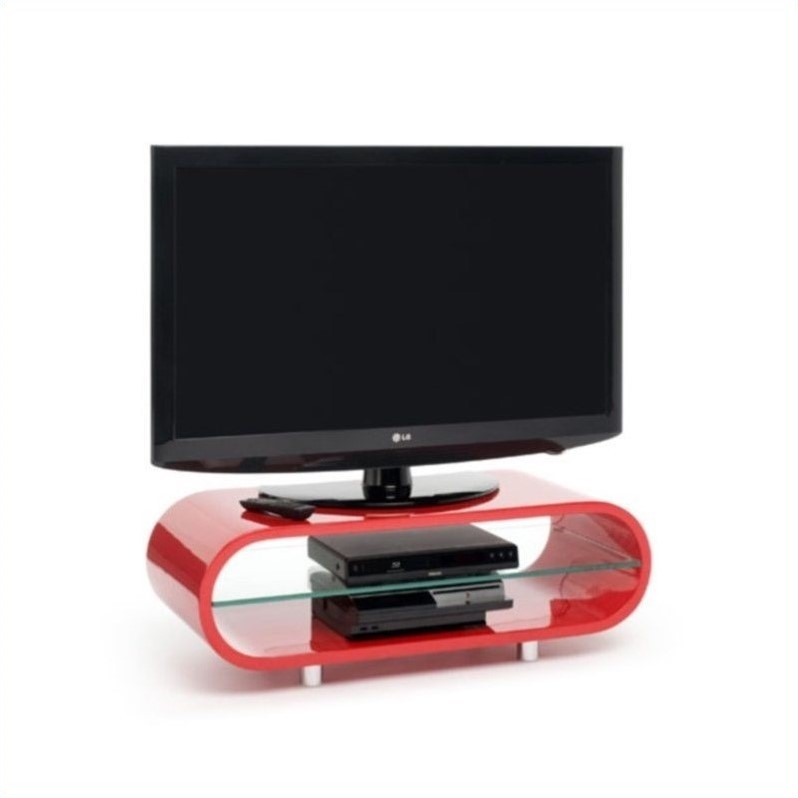2017 Ovid White Tv Stand with regard to Tech Link Ovid Tv Stand Red