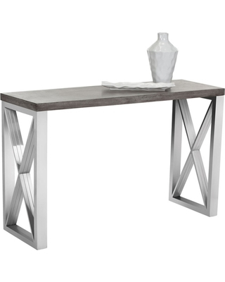 2017 Parsons Concrete Top & Dark Steel Base 48X16 Console Tables With Regard To Concrete Top Console Table Surprising Mahaut Am Pm Consoles And (View 13 of 25)