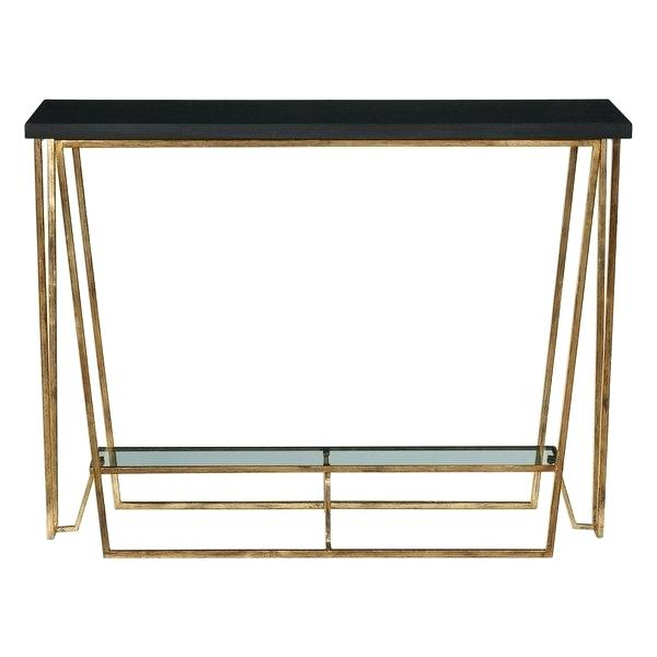 2017 Roman Metal Top Console Tables Inside Black Granite Top Console Table Shop Uttermost Inch Wide Metal With (Image 3 of 25)