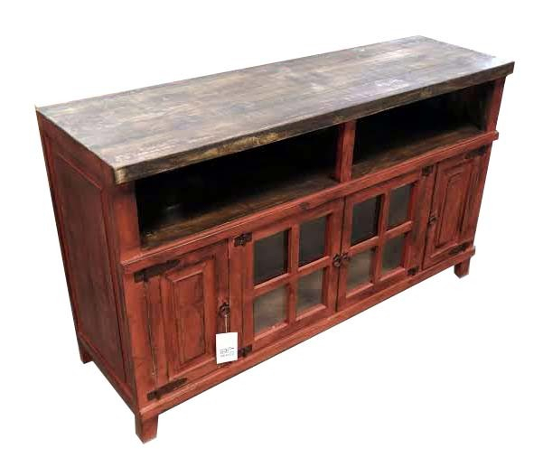 2017 Rustic Red Tv Stands For Antique Red Tv Stand Or Server/buffet Texas Rustic Wholesale Pine (Photo 7244 of 7746)