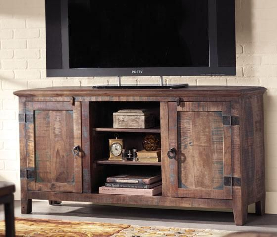 2017 Rustic Tv Stands For Sale pertaining to Holbrook Tv Stand Add Interest And Rustic Appeal To Your Home