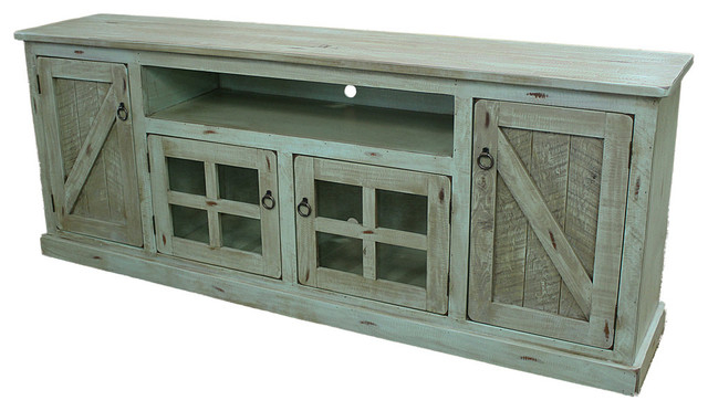 2017 Rustic Tv Stands within Agatha Rustic Tv Stand - Farmhouse - Entertainment Centers And Tv
