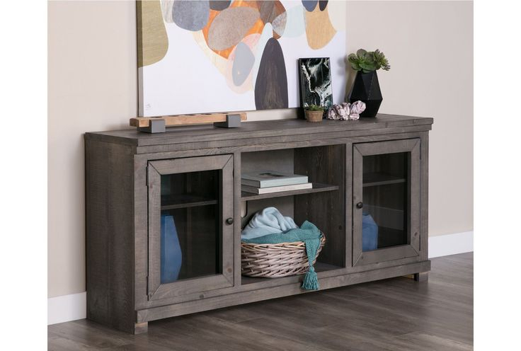 2017 Sinclair Grey 68 Inch Tv Stands pertaining to Sinclair Grey 68 Inch Tv Stand
