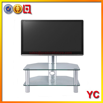 2017 Stil Tv Stands Intended For Stil Stand Stuk 2052 Clear Glass Tv Stand For Plasma Led Lcd Tv Up (Image 1 of 25)