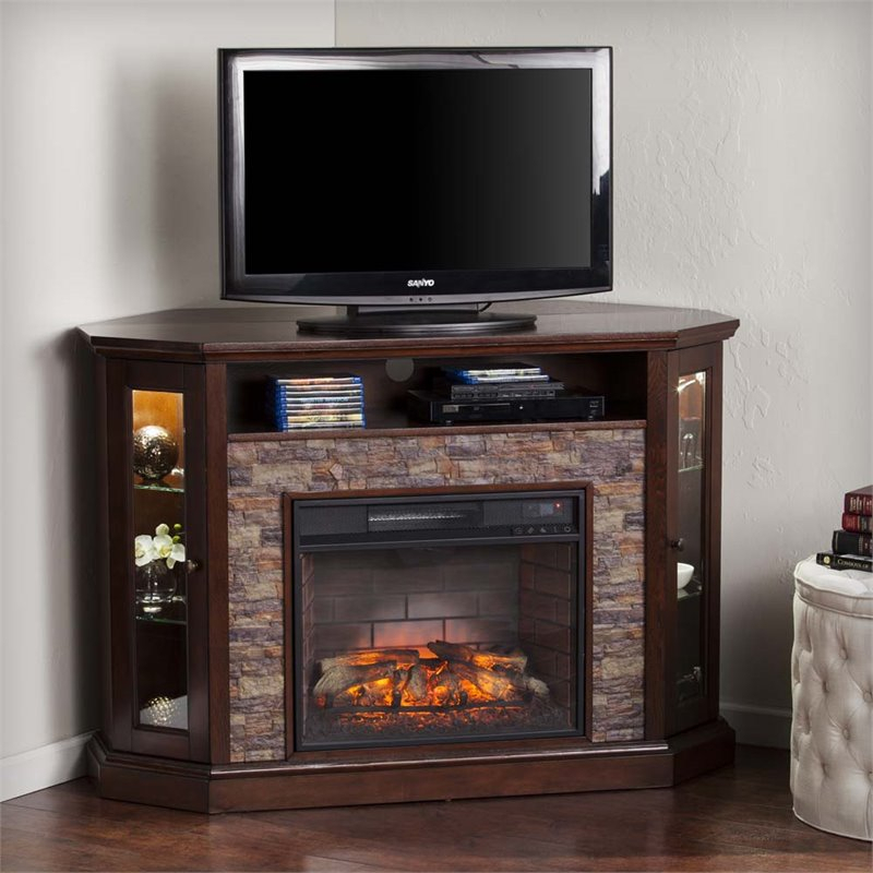 2017 Tv Stands for Corner for Southern Enterprises Redden Corner Electric Fireplace Tv Stand - Fi9392