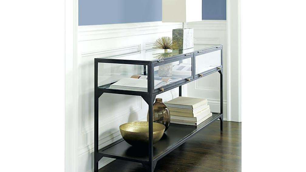 2017 Ventana Display Console Tables Throughout Ventana Console Table Mirrored Console Table Sofa Accent Vanity (Image 1 of 25)