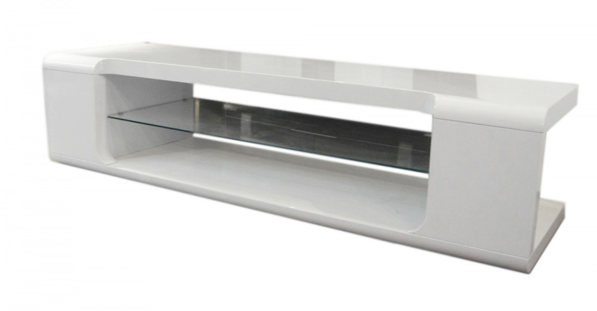 2017 White High Gloss Tv Stands pertaining to Dockland Prestige Residential » Parker High Gloss Tv Unit