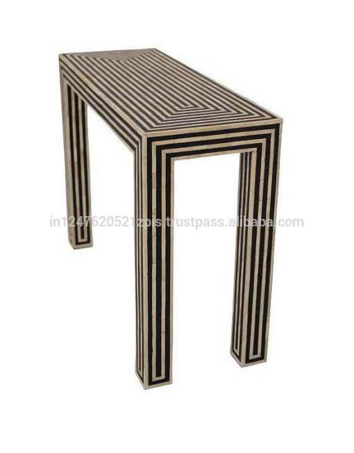 2018 Black And White Inlay Console Tables In Black And White Bone Inlay Console Table – Buy Console Table,french (Image 2 of 25)