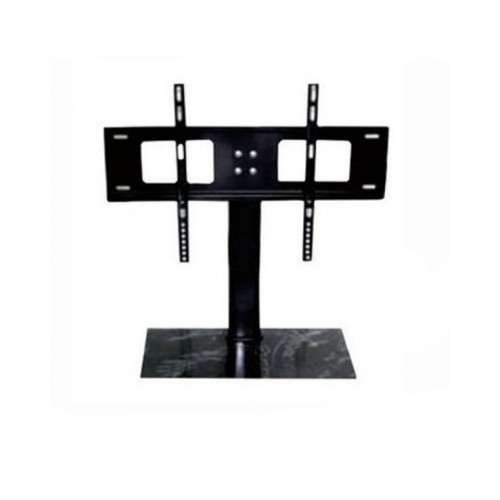 2018 Cantilever Glass Tv Stand With Regard To Cantilever Glass Tv Stand With Bracket For 37  55 Inch Lcd Led Plasma (Image 1 of 25)