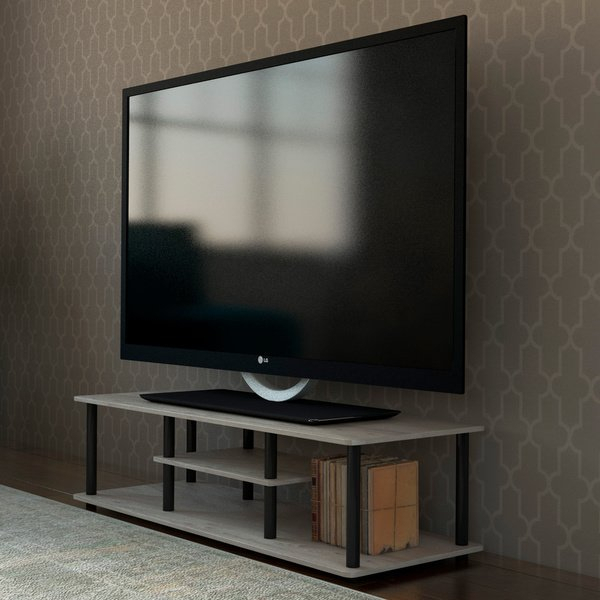 2018 Casey Grey 54 Inch Tv Stands in Shop Porch & Den Stuyvesant Open Shelves 3-Tier Entertainment Tv