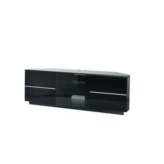 2018 Corner Tv Cabinets With Glass Doors With Regard To Black Tv Stand With Glass Doors – Splendidinfo (Image 5 of 25)