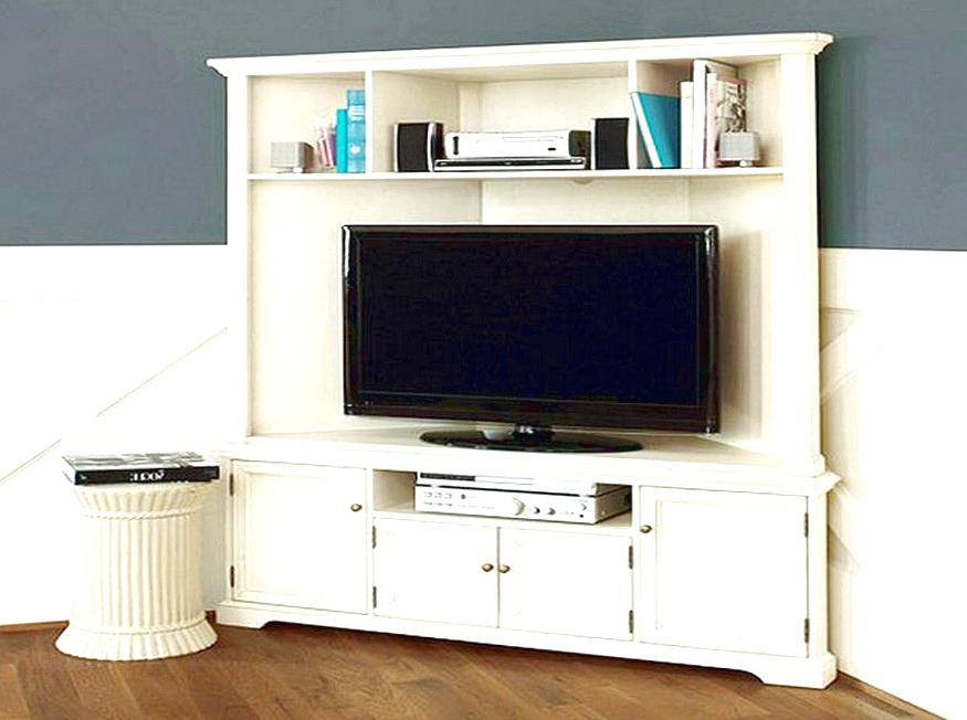 2018 Flat Screen Tv Stands Corner Units With Regard To Corner Tv Stand Tall Excellent Stunning White Corner Stands For Flat (View 4 of 25)