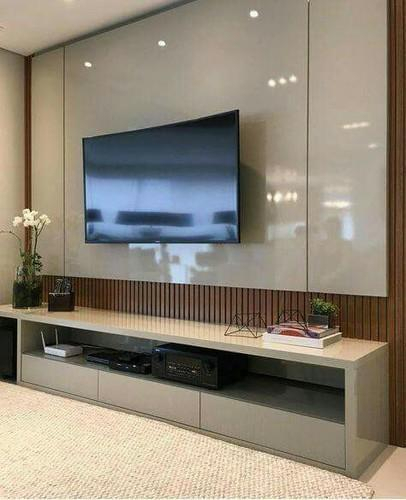2018 High Gloss Tv Cabinets For High Gloss Tv Unit Warranty: 7 Years, Rs 1500 /square Feet, Nm (Photo 8 of 25)