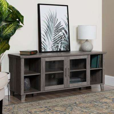 2018 Kenzie 60 Inch Open Display Tv Stands Regarding Gray – Tv Stands – Living Room Furniture – The Home Depot (Image 2 of 25)