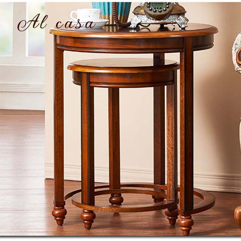 2018 Layered Wood Small Square Console Tables For Detail Feedback Questions About Coffee Table Big And Small Size Set (Image 1 of 25)