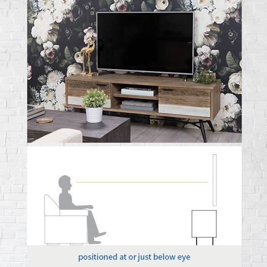 2018 Melrose Titanium 65 Inch Lowboy Tv Stands Inside Tv Stand Size Guide: Read This Before Buying (Image 2 of 25)