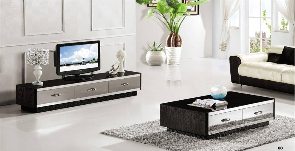 2018 Mirrored Furniture Tv Unit Within French Style Furniture Coffee Table,tv Cabinet 2 Piece Set, Modern (Image 4 of 25)