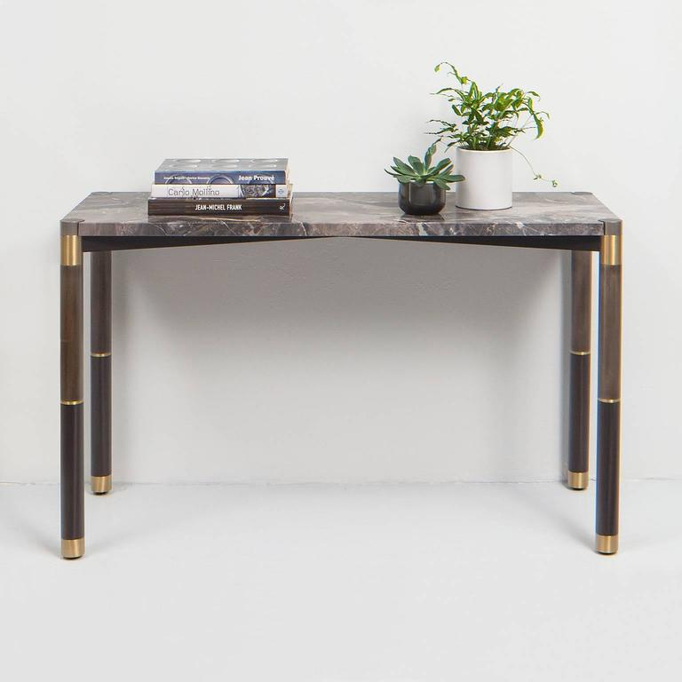 2018 Mix Agate Metal Frame Console Tables Throughout Nova Marble Console Tableavram Rusu Studio For Sale At 1Stdibs (Image 2 of 25)