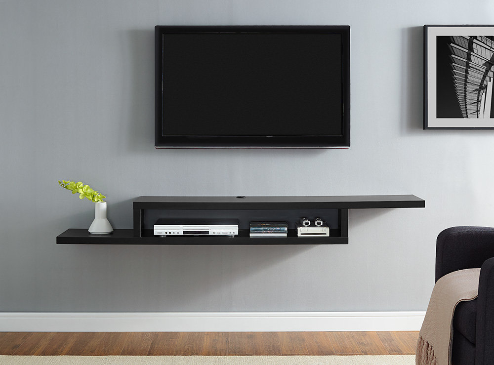 2018 Oak & Brass Stacking Media Console Tables With Regard To Modern Tv Stands & Entertainment Centers (Image 3 of 25)