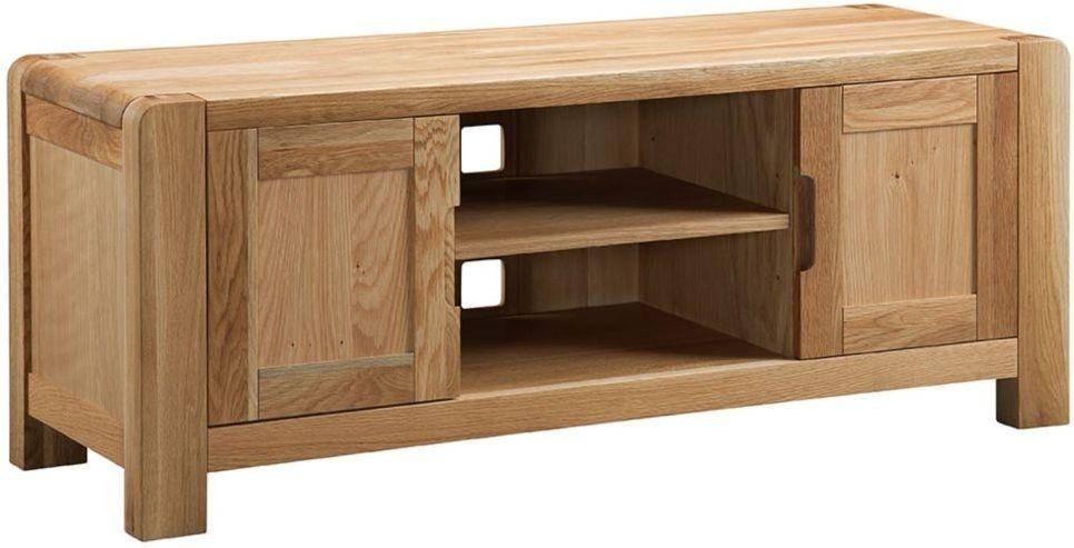 2018 Oak Tv Cabinet With Doors Pertaining To Buy Oslo Oak 2 Door Tv Cabinet Online – Cfs Uk (Image 3 of 25)
