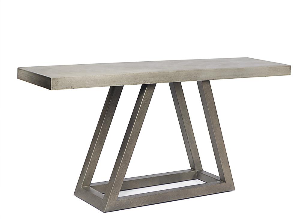 2018 Parsons Concrete Top & Elm Base 48X16 Console Tables Regarding Concrete Top Console Table Startling Hot Sale Parsons With Interior (Image 2 of 25)