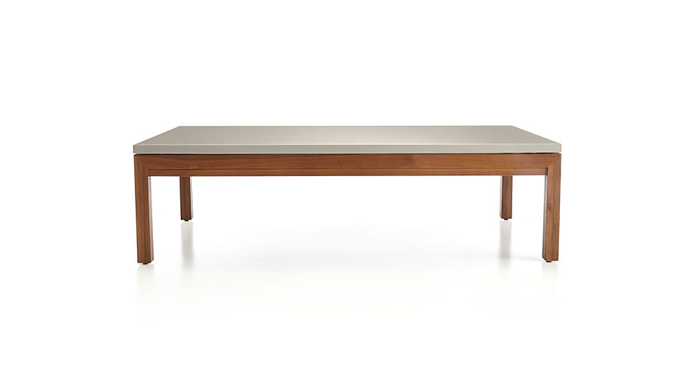 2018 Parsons Travertine Top & Dark Steel Base 48X16 Console Tables With Regard To Parsons Grey Solid Surface Top/ Elm Base 60X36 Large Rectangular (Image 2 of 25)