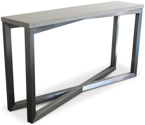 2018 Parsons White Marble Top & Stainless Steel Base 48X16 Console Tables Within Concrete Top Console Table (Image 2 of 25)