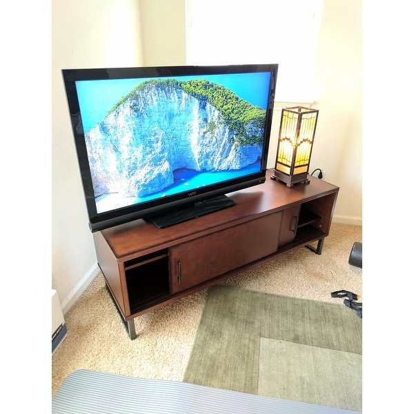 2018 Rowan 74 Inch Tv Stands With Shop Carbon Loft 54 Inch Breckenridge Walnut Entertainment Center (Image 1 of 25)