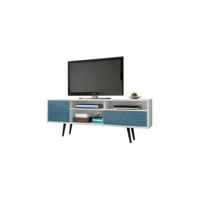 2018 Sinclair White 64 Inch Tv Stands With Regard To Blue Tv Stand Wood Wood Zhuxing Sinclair Blue 64 Inch Tv Stand Qty  (Image 2 of 25)