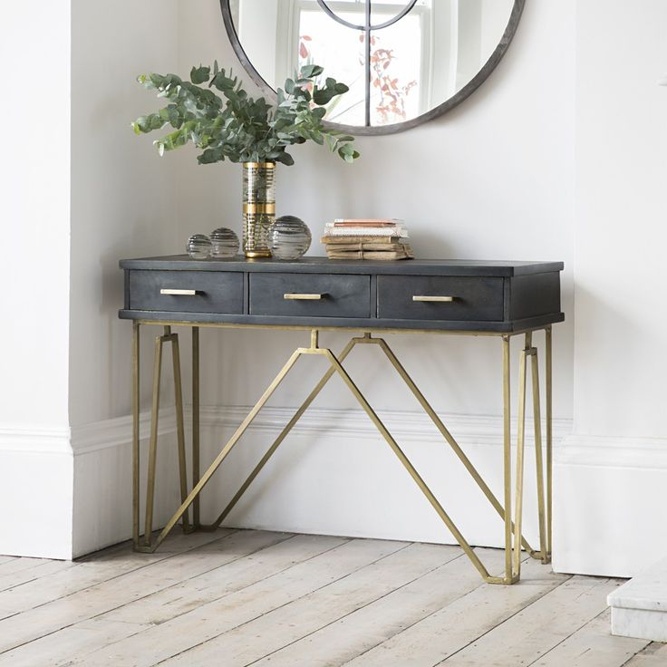 27 Gorgeous Entryway – Entry Table Ideas Designed With Every Style Pertaining To Famous Frame Console Tables (Image 2 of 25)
