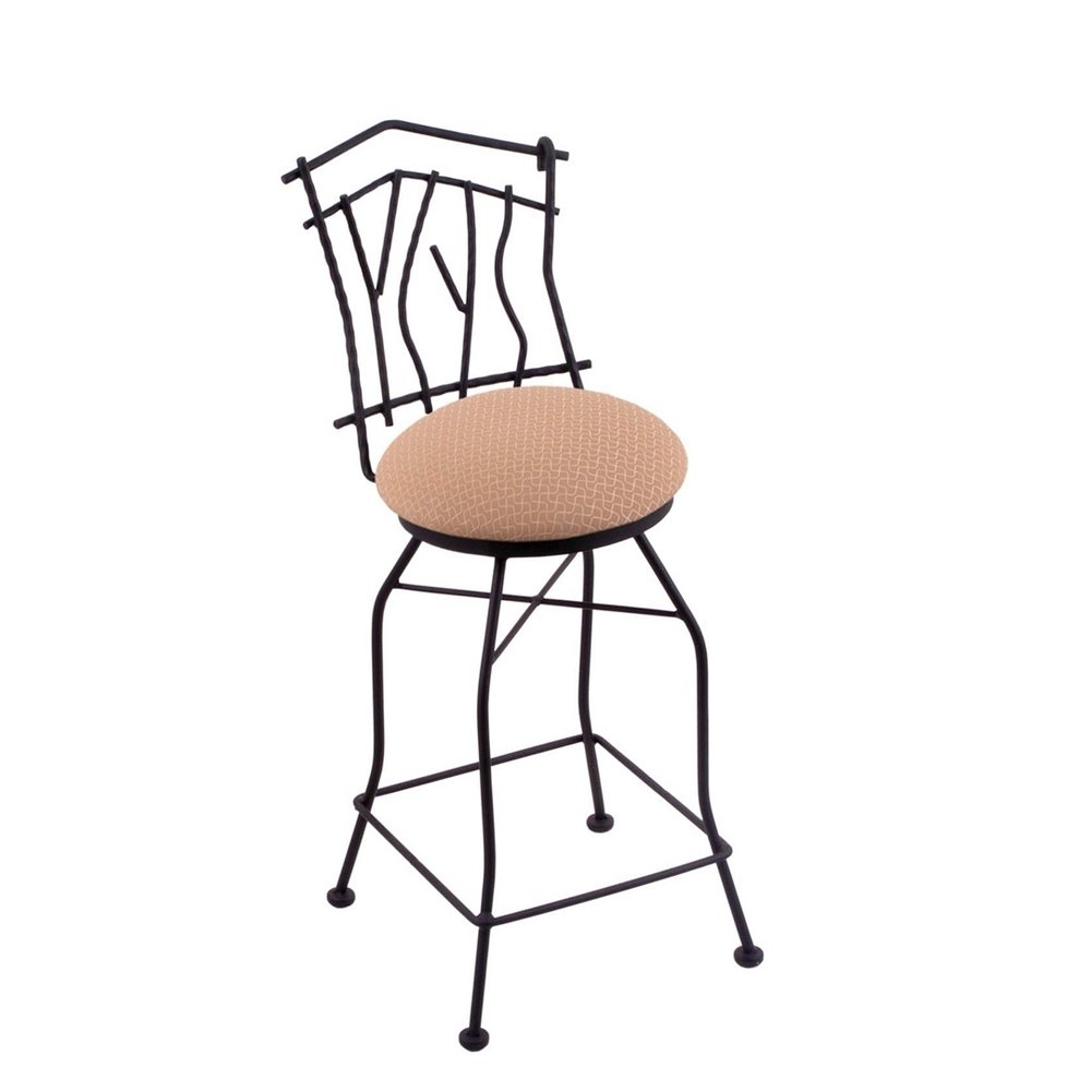 """3010 Aspen 30"""" Bar Stool With Black Wrinkle Finish, Axis Summer Seat intended for Aspen Swivel Chairs"""