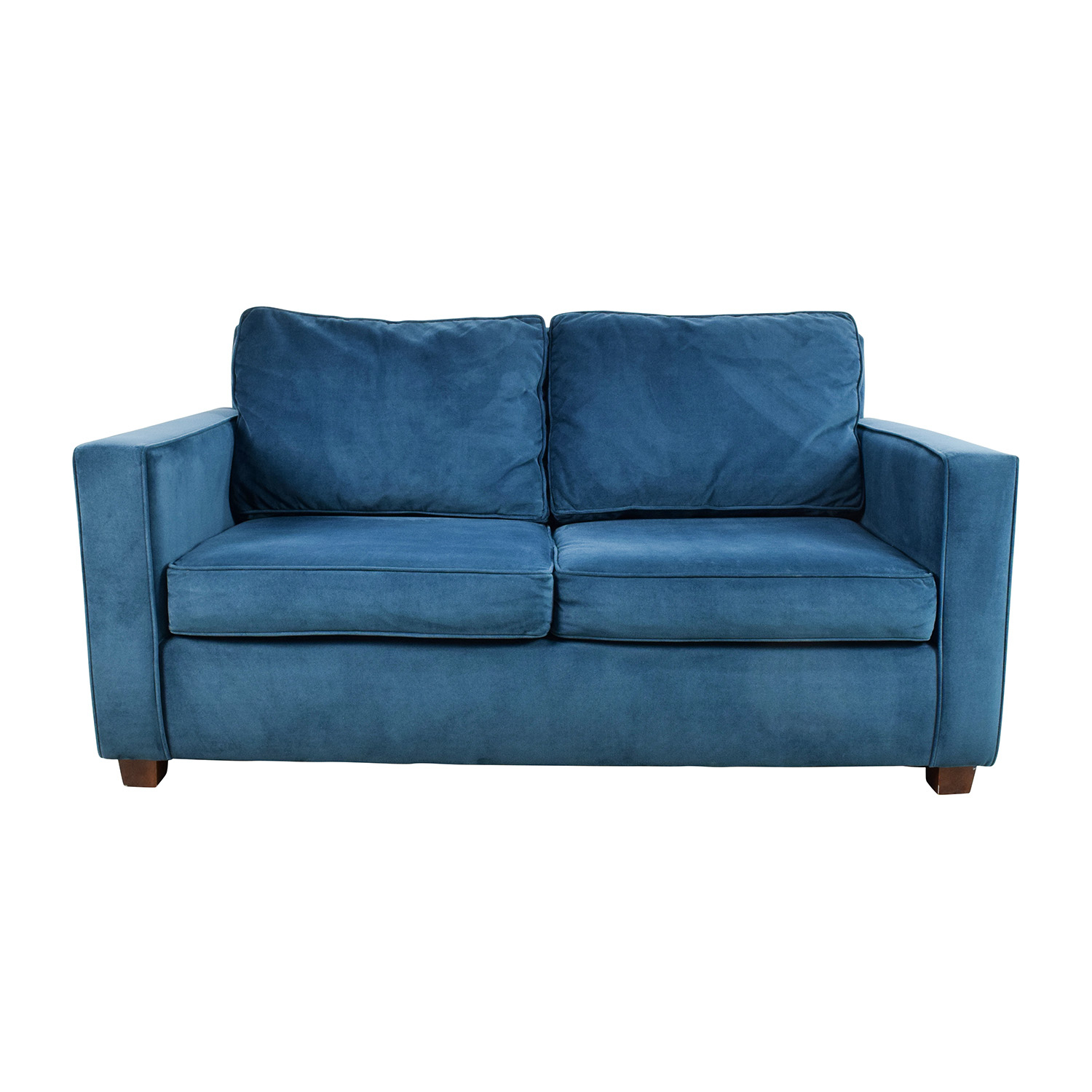 39% Off – West Elm West Elm Celestial Blue Henry Loveseat / Sofas Inside Elm Sofa Chairs (Image 2 of 25)