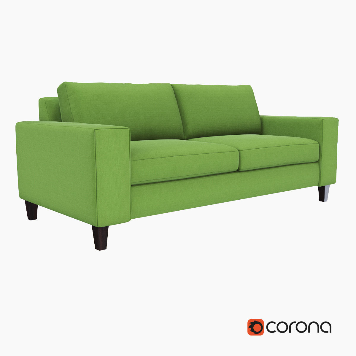3D West Elm York Sofa | Cgtrader Throughout Elm Sofa Chairs (View 20 of 25)