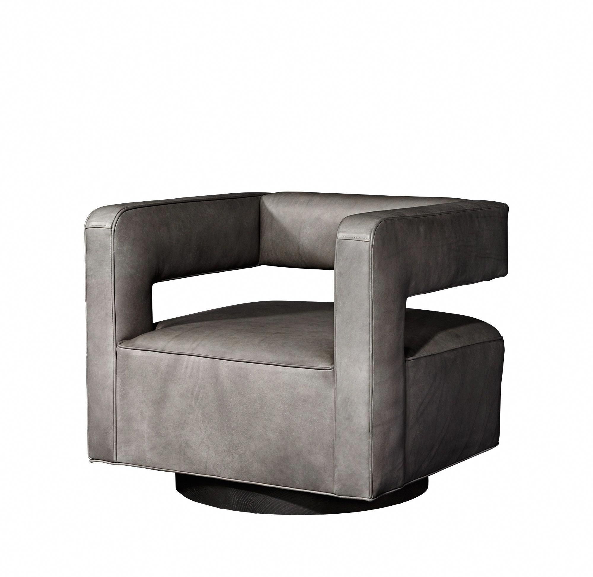 4 Drew Leather Swivel Chair Tq #restorationhardwarechair | Dining pertaining to Gibson Swivel Cuddler Chairs