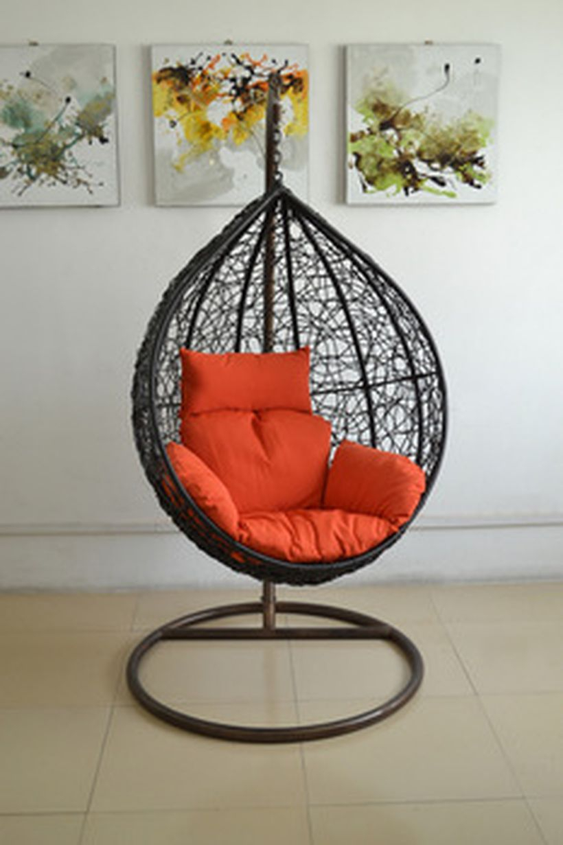 40 Cool Hanging Swing Chair With Stand For Indoor Decor | Creative Throughout Chill Swivel Chairs With Metal Base (Photo 11 of 25)