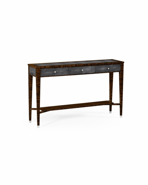 494366 Jonathan Charles Metropolitan Faux Macassar Ebony & Black Intended For Well Known Faux Shagreen Console Tables (Photo 25 of 25)