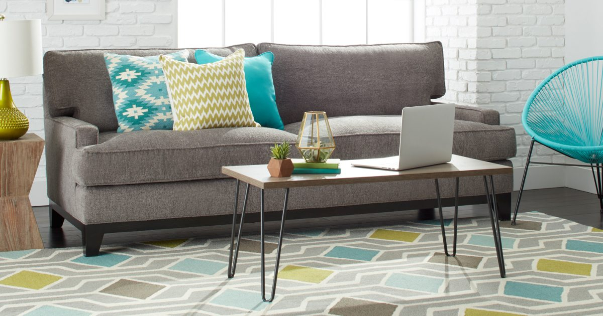 5 Designer Tips On How To Mix And Match Furniture – Overstock Intended For Most Recently Released Mix Leather Imprint Metal Frame Console Tables (Image 3 of 25)