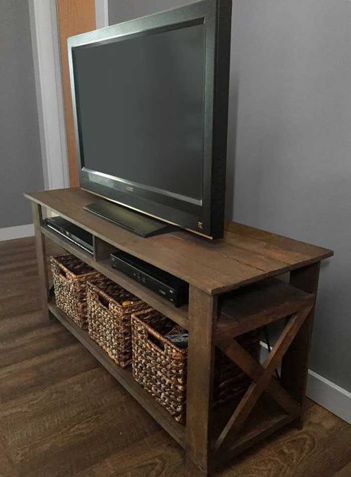 50+ Creative Diy Tv Stand Ideas For Your Room Interior – Diy Design For Well Known Rustic Wood Tv Cabinets (Image 2 of 25)