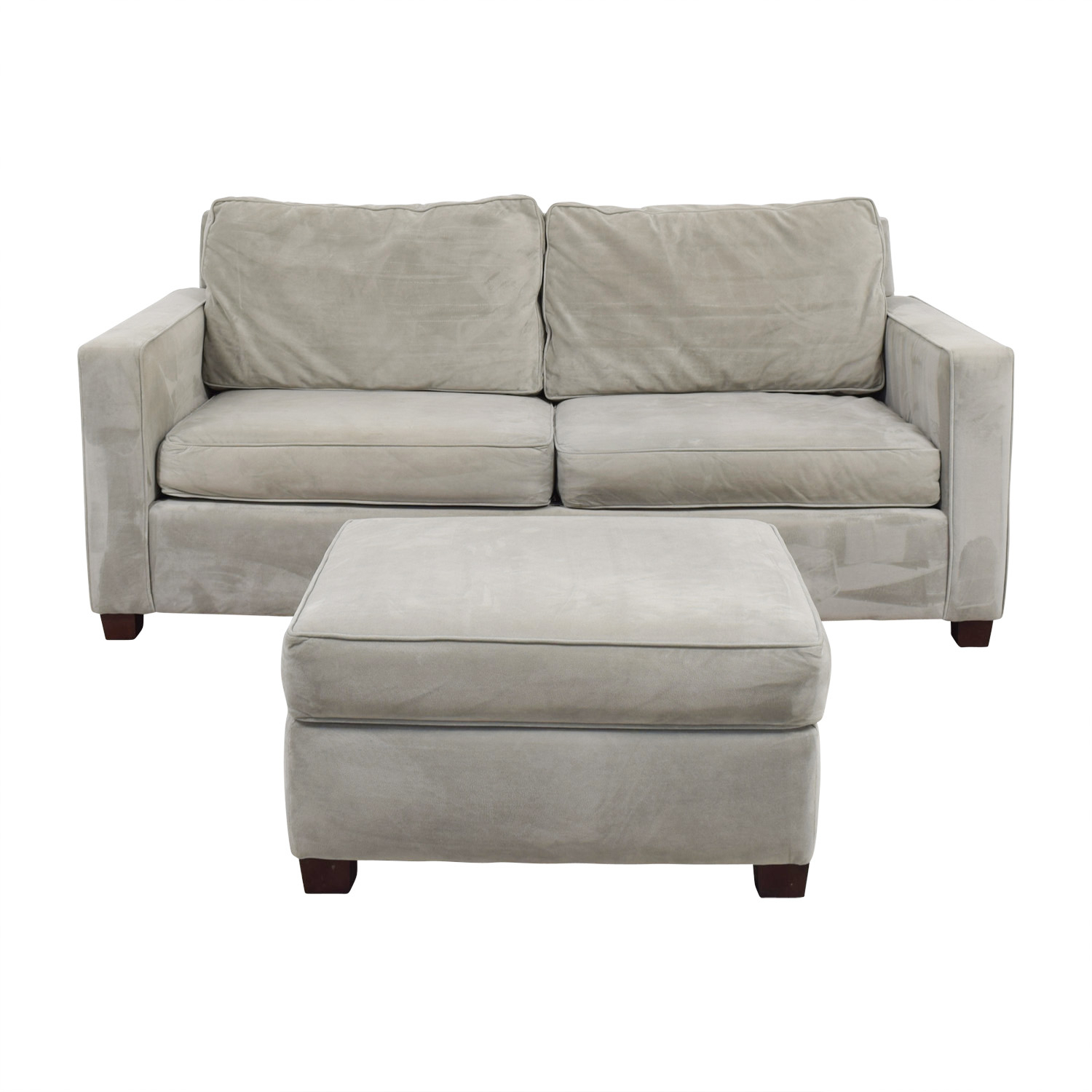 52% Off – West Elm West Elm Gray Henry Sofa And Ottoman / Sofas Throughout Elm Sofa Chairs (Photo 6 of 25)