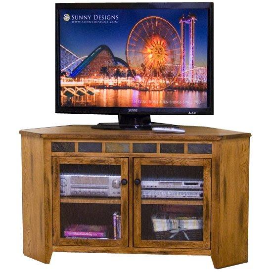 55 Inch Oak Corner Tv Stand – Sedona (Image 3 of 25)