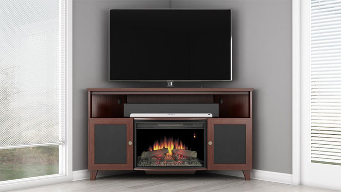 60-Inch Corner Tv Stand With Fireplace? in Famous Black Corner Tv Stands for Tvs Up to 60