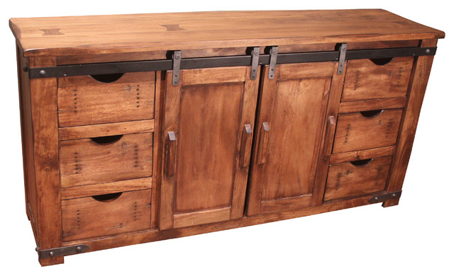 "60"" Solid Wood Tv Stand - Farmhouse - Entertainment Centers And Tv regarding Latest Marvin Rustic Natural 60 Inch Tv Stands"