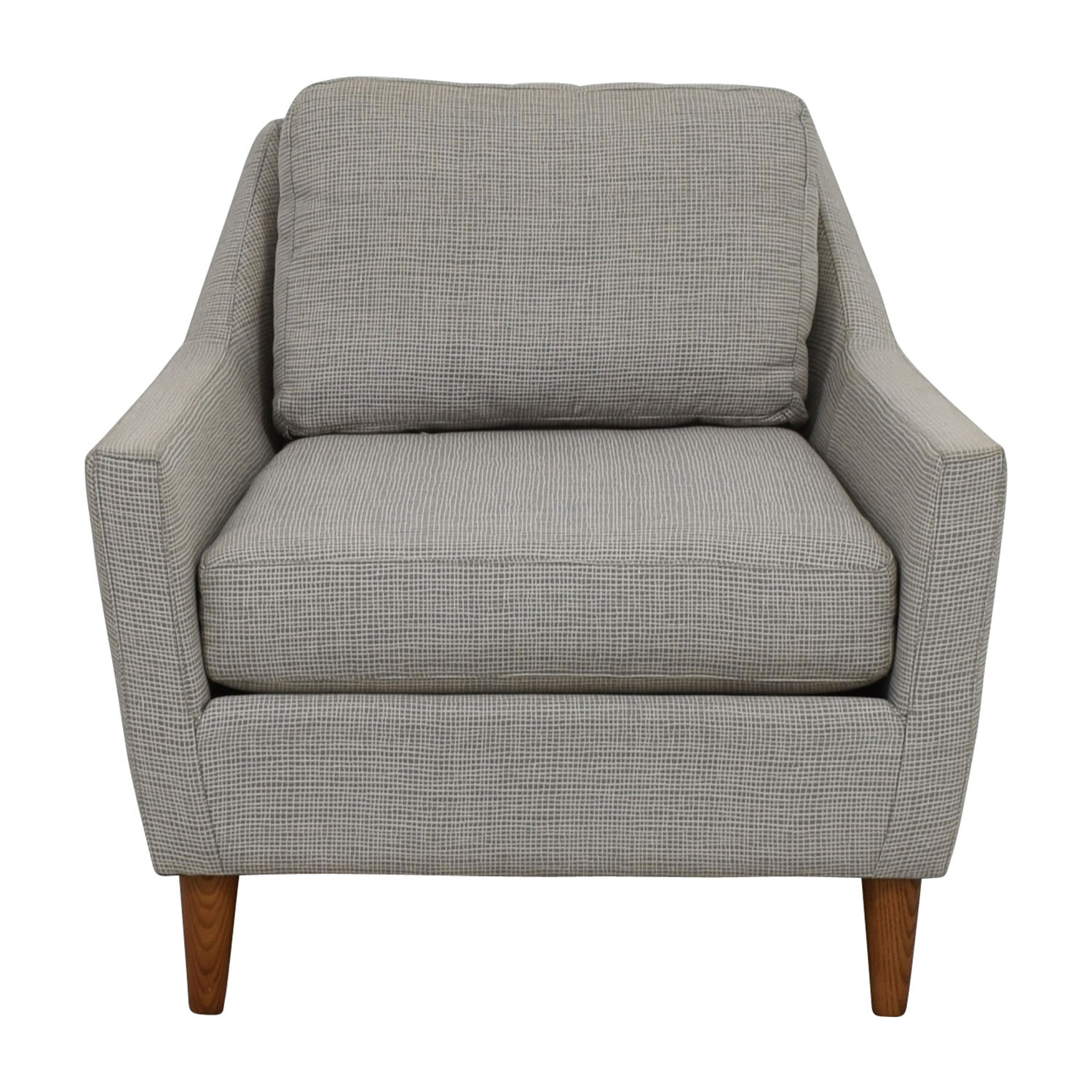 66% Off – West Elm West Elm Grey Everett Sofa Chair / Chairs For Elm Sofa Chairs (Photo 1 of 25)