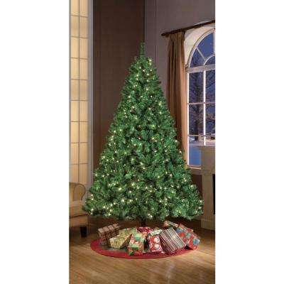 7.5 Ft - Artificial Christmas Trees - Christmas Trees - The Home Depot for Most Recent Sinclair Blue 64 Inch Tv Stands